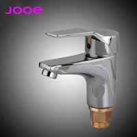 JOOE Copper Bathroom Faucet cold and hot mixer water tap Deck Mounted Single Holder Single Hole Basin Faucet for kitchen sink