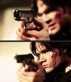 Sam with a gun