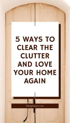 Overwhelmed by the amount of clutter in your home? It's time to make a change with one of these easy decluttering methods. Choose slow and easy, minimalist, or find something else that inspires you to start clearing your clutter today! One of these 5 ways to declutter is sure to get you motivated!
