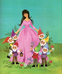 'Snow White and the 7 Dwarfs' by Felicitas Kuhn,] by aMJel, via Flickr
