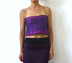AUBADE Purple Bustier Top by miradaTenueDeTango on Etsy