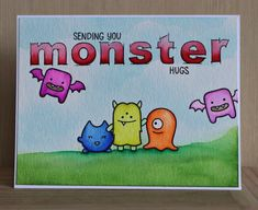 "There's a Card for That: Monster Hugs | ft Lawn Fawn ""Monster Mash"" and Zig..."