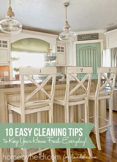 Keep your home feeling fresh everyday with these 10 awesome cleaning tips and tricks!