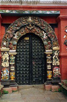 Kathmandu carved doorway.