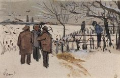 Vincent van Gogh ~ Miners in the Snow: Winter, 1882