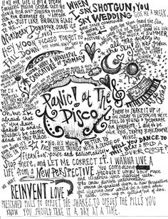 Panic! At the Disco quotes and lyrics