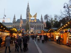 Vienna City Hall Square during Christmastime
