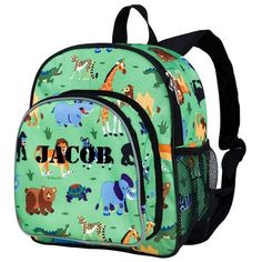 Personalized Wild Animals Pack-n-Snack Backpack by Wildkin