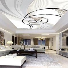 Roof Ceiling, Ceiling Murals, 3d Wall Murals, Bedroom Ceiling, Ceiling Ideas, Gypsum Ceiling, Black Ceiling, Modern Ceiling, Bedroom Lamps