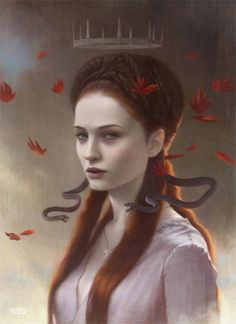 """"""" I dreamt of a maid at a feast with purple serpents in her hair, venom dripping from their fangs.  And later I dreamt that maid again, slaying a savage giant in a castle built of snow."""""""