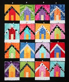 .16 different designs little cottage or birdhouses. Color combinations are endless