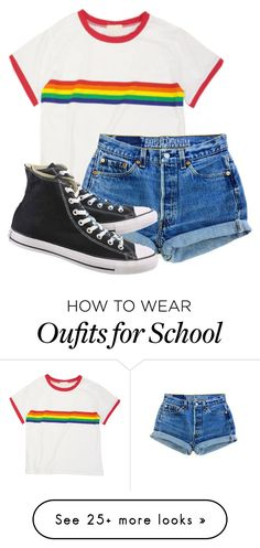 """Untitled #1676"" by milesofsmiles12345 on Polyvore featuring Converse"