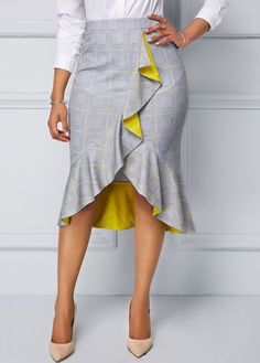 41 Unique Skirts Design Ideas For Women - Kleider und Röcke - Jupe African Fashion Skirts, African Print Fashion, Skirt Outfits, Dress Skirt, Maxi Dresses, Legging Outfits, 50s Dresses, Elegant Dresses, Beautiful Dresses