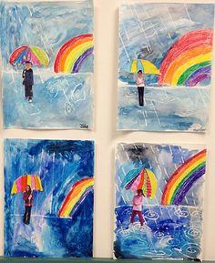 Herbst regen Bild Foto Regenschirm