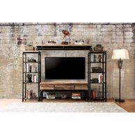 Diy rustic shabby chic style stand home decor furniture entertainment center ideas living room wall building cabinet built cost unit corner white modern Home Entertainment, Industrial Entertainment Center, Industrial Tv Stand, Living Room Entertainment Center, Industrial Design Furniture, Home Decor Furniture, Industrial Style, Cabinet Furniture, Industrial Pipe