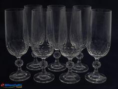 H 779 SET DI 7 BICCHIERI FLUTE IN VETRO VINTAGE - http://www.okaffarefattofrascati.com/?product=h-779-set-di-7-bicchieri-flute-in-vetro-vintage
