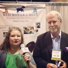 Did on-the-fly interview with Dan Pittman of Red Rover & Blue at #globalpetexpo