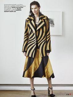 Katlin Aas in Dries Van Noten by Emma Tempest for Vogue Turkey