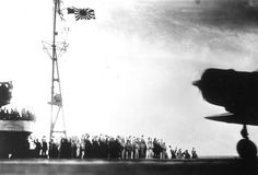 """This photograph, from a Japanese film later captured by American forces, was taken aboard the Japanese aircraft carrier Zuikaku, just as a Nakajima """"Kate"""" B-5N bomber launched off the deck to attack Pearl Harbor, Hawaii, on December 7, 1941. (AP Photo)"""
