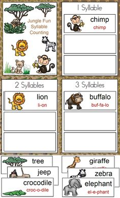 Jungle Fun Syllable Counting has been added to the 1 - 2 - 3 -Learn Curriculum web site. One of the fun literacy activities included in the Jungle Fun theme. Click on picture to subscribe for free downloads or to become a member and access all files on the 1 - 2 - 3 Learn Curriculum web site.