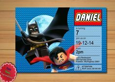 Lego Invitation Lego Birthday Lego Party by CutePartyDecorations, $11.00
