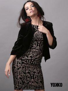 VELVET parties!  #yokko #velvet #gold #partydress Party Dress, Parties, Velvet, Magic, Slim, Elegant, Gold, Jackets, Outfits