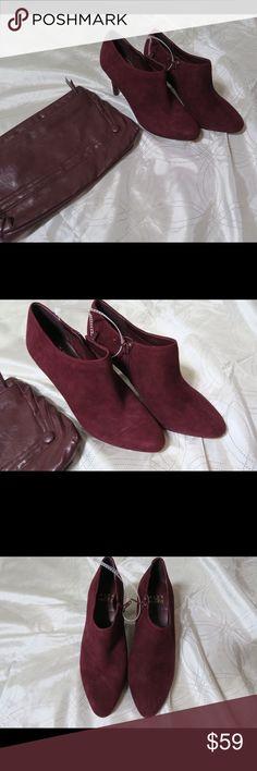 {NEW} Alex Marie Maroon Booties Boots Heels Suede Super cute suede booties. Alex Marie Shoes Heeled Boots