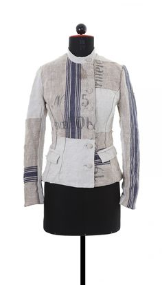 Christine Mayer. Peace Collection.  The patches are in the right places and the seams and stripes flow in the right directions.  I kind of want to remake this for myself (or at least an imitation)...