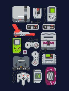 Ahora en Threadless - Un pixel de mi infancia en Behance
