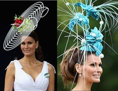 Strolling around the race track of the Royal Ascot. Hats on Parade. Hatness