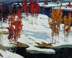 Stepan Fedorovich Kolesnikov - First snow, (1905).