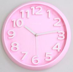 3D Modern Contemporary Solid Color Quiet Wall Clock - 13-inch Round Pink Kohnore http://www.amazon.com/dp/B00GW37I7M/ref=cm_sw_r_pi_dp_qzOaub19YXEEX