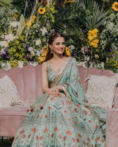 (C) Mehakbakshi | (C) cupcakeproductions13 | (C) priyankagogiamakeup | Bridal outfits | Wedding photography | Pastel outfits | Decor | Bridal lehenga | Pastel lehenga #weddingphotography #bridallehenga #trending #pastelbrides #decor #mehendi #bridalhairstyle Indian Wedding Outfits, Bridal Outfits, Indian Outfits, Indian Clothes, Indian Attire, Pakistani Outfits, Indian Weddings, Indian Wear, Bridal Dresses