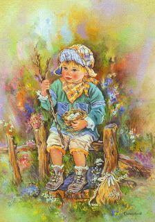 Fantasia de una PrinCesa: Bonitas imagenes de Christine Haworth Pretty Art, Cute Art, Sarah Kay, Reading Art, Boy Art, Freelance Illustrator, Precious Moments, Artist Art, Art For Kids