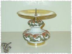 Kerzenständer - Keramikfuß - 70er - Vintage. Von vintageschippie bei DaWanda.