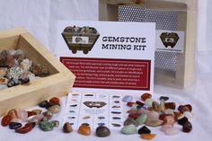rock and mineral kits, Rock Solid Learning interactive geology programs and birthday parties for kids Edmonds Seattle, WA Merchandise that Rocks!