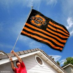 Amazon.com: Oklahoma State University OSU Alumni Nation Stripes Flag: Sports & Outdoors