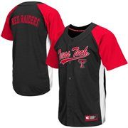 Mens Texas Tech Red Raiders Scarlet Dugout Baseball Jersey