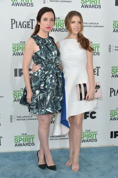 Zoe Lister Jones Zoe Lister Jones and Anna Kendrick attends the 2014 Film Independent Spirit Awards at Santa Monica Beach on March 1, 2014 i...