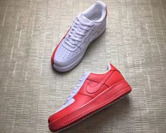 2017 Nike Air Force 1 Low  Split  White Red – New Jordans 2018 1ed3d4ca12