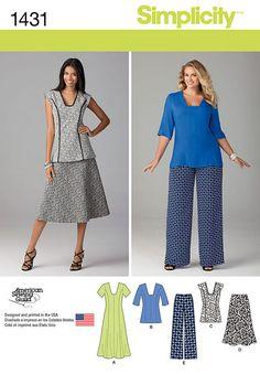 1916063d672e3d Simplicity Pattern 1431BB 20W-28W -Misses Sportswear Skirt Patterns Sewing