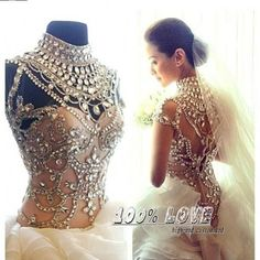 Find More Wedding Dresses Information about Free Shipping Very Luxury High Neck Rhinestone Crystal Tiered Organza Champagne Very Sexy Wedding Dresses,High Quality dress sarees,China dress fall wedding Suppliers, Cheap dress wedding shoes from 100% Love Wedding Dress & Evening Dress Factory on Aliexpress.com