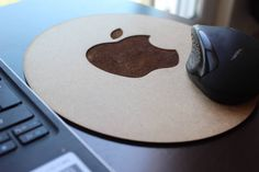 Wooden Mouse Pad-Personalized Mouse Pad-Mouse Pad-Gift İdeas-wood mouse pad-Apple Mousepads-Apple Wooden mouse pad-office gift-gift ideas by WoodenWordDesign on Etsy