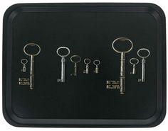 Ary Trays - Keys Charcoal Tray - 43x33cm from Amara Living