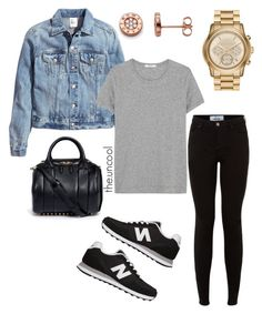 """""""Untitled #15"""" by the-uncool-collective on Polyvore featuring H&M, ADAM, New Balance, Alexander Wang and MICHAEL Michael Kors"""