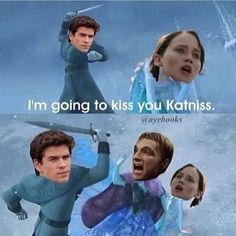 Frozen, Gale, Katniss and Peeta