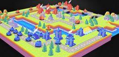 Fanmade Advance Wars 3d battle map