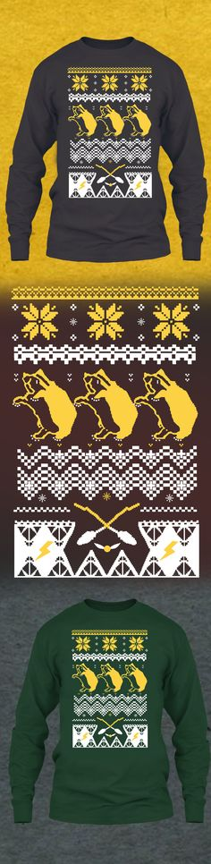 Hogwart Christmas Sweater Hufflepuff - Get this limited edition ugly Christmas Sweater just in time for the holidays! Only 2 days left for FREE SHIPPING, click to buy now!