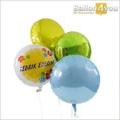Tebrik Ederim - Ballonbukett Herzlichen Glückwunsch (türkisch)     Herzlichen Glückwunsch auf türkisch! Ob zum Geburtstag, bestandenen Prüfung oder anderen Anlässen - über diesen Ballongruß freuen sich alle Freunde der italienischen Sprache. Farblich abgerundet, wird dieses Bukett durch drei weitere, runde Ballons. Tebrik Ederim!