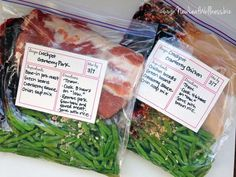 Eight Crockpot Freezer Meals in 35 Minutes Cranberry pork and green beans. Love this recipe! The post Eight Crockpot Freezer Meals in 35 Minutes & lecker_freezer meals appeared first on Free . Freezer Friendly Meals, Slow Cooker Freezer Meals, Make Ahead Freezer Meals, Freezer Cooking, Crock Pot Cooking, Crock Pot Freezer, Premade Freezer Meals, Crock Pot Dump Meals, Freezer Meal Party